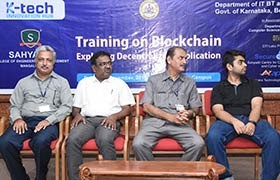 Sahyadri holds One Day Training on Blockchain