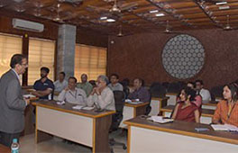 General Manager-Education & Training, Schneider Electric addressed the faculty