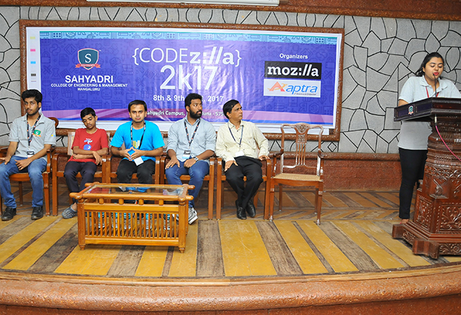 Sahyadri College of Engineering & Management - Code2kZilla 2017