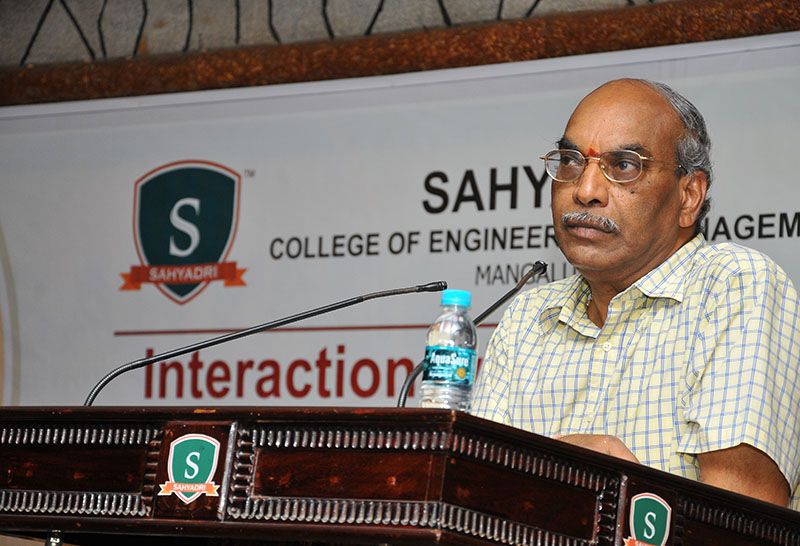 Dr. K Lakshmi Narayana (Retd. IAS), Founder & Director of Andhra Pradesh State Skill Development Corporation (APSSDC) addressed Sahaydri faculty on Teach Next Generation Engineering