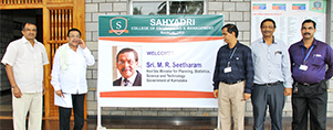 Shri. M R Seetharam, Minister for Planning, Statistics, Science and Technology visits Sahyadri
