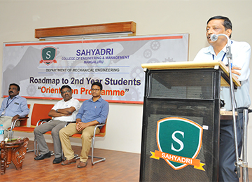 Orientation programme organized in the Dept. of Mechanical Engineering