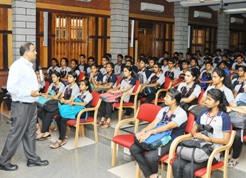 Chairman addresses the second batch of B.E. New entrants on the Orientation program