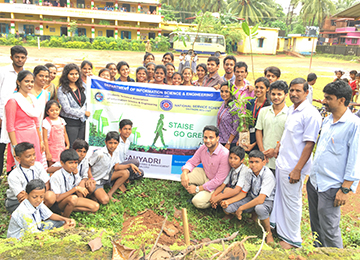 ISE Dept & Sahyadri NSS unit jointly organized GO-GREEN at Govt. High School, Kumpala