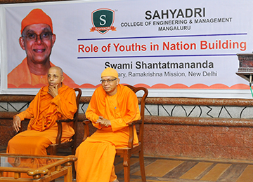 "Swamiji addresses students on ""Role of Youth in Nation Building"""