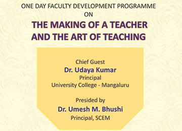 "Faculty Development Programme on ""The Making of a Teacher and the Art of Teaching"""