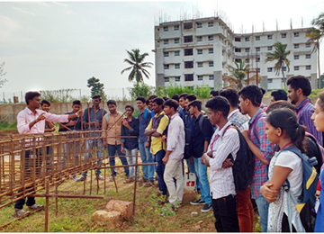 Sahyadri Site visit by Civil Engineering students