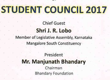 Inauguration of Student Council 2017