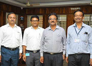 Former Principal of SDM Engineering College, Dharawad visits Sahyadri