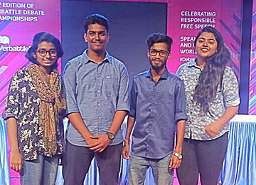 Two teams from Sahyadri qualify for the Semifinals of Verbattle Karnataka 2017