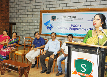 PGCET Training Programme organized by Department of Business Administration