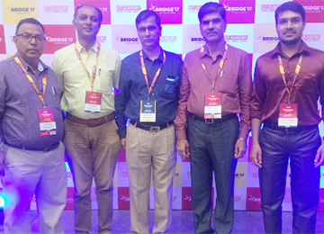 Team Sahyadri attended BRIDGE 2017, a Conference of ICT Academy