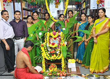 Sharada Pooja in the Central Library