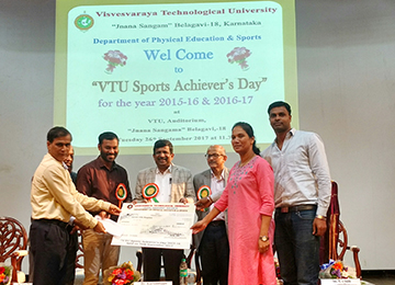 Sahyadri wins Cash Prize from VTU for Excellence in Sports