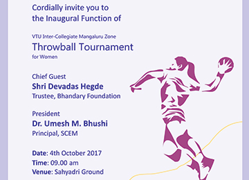 VTU Mangaluru Zone Throwball Tournament