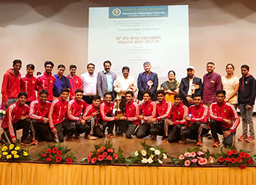 Sahyadri, the Overall Champions at the 20th VTU Inter-Collegiate Athletic Meet 2017-18