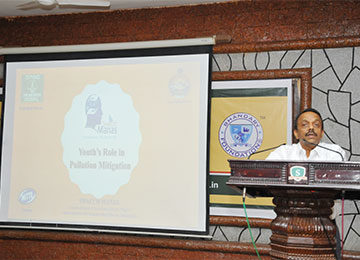 "MBAs had a talk on ""Youth's Role in Pollution Mitigation"""