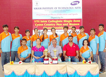 Sahyadrians win in Cross Country competition held at NMAMIT, Nitte