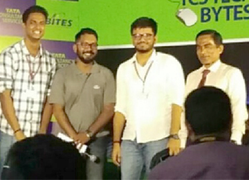 "Sahyadrians win in the Regional round of ""TCS TechBytes"", a State Level Quiz competition"