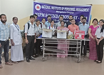 MBA Faculty & Students collaborate with NIPM for a CSR activity at Wenlock District Hospital, Mangaluru
