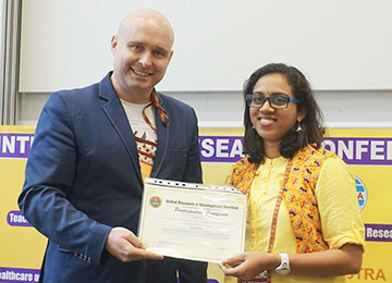 Placement Officer Presents Paper in an International Conference held in London, UK