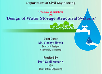"One-Day Workshop on ""Design of Water Storage Structural Systems"""