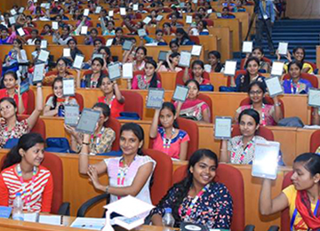 "Sahyadri Faculty & Students volunteer at ""Chetana"" Programme, Infosys Campus, Mangaluru"