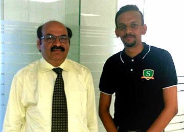 "Dean-Branding & Promotion meets the Director of NISM, Mumbai to set up ""Centre of Financial Studies"" at the MBA Department"