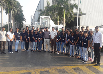 MBA students along with their mentors visit industries in Chennai & Pondicherry