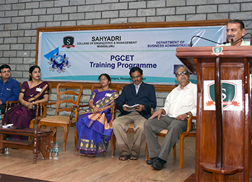 Inauguration of Two-Day PGCET Training Programme organized by MBA Department