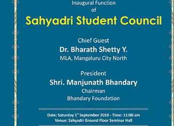 Inaugural Ceremony of Sahyadri Student Council