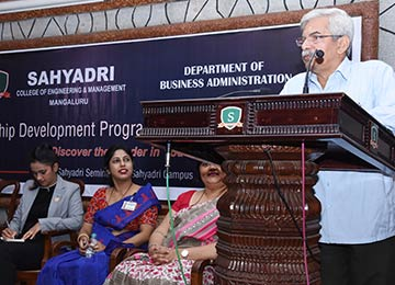 MBA Department organizes a One-Day Leadership Development Programme for the UG students
