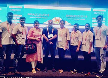 Sahyadri, supporting partner of PRAXIS 2018 in Hyderabad, by deputing student volunteers and faculty