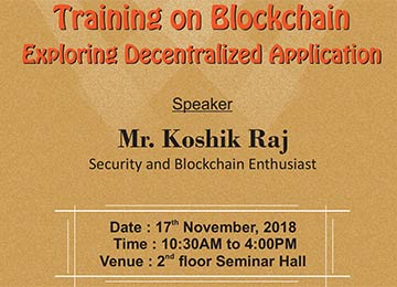 "training programme on ""Blockchain"
