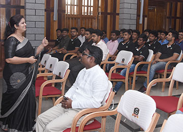 Professors from VTU Belagavi interact with MBA students & Faculty