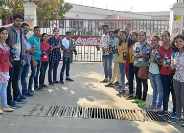 MBAs visit Hindustan Coca-Cola Beverages Private Limited, Goblej Plant in Ahmedabad