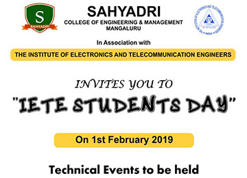 IETE Students Day on 1st February 2019