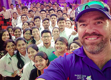 Heath Streak praises Sahyadri, says it has a World Class Cricket Ground & other facilities in the Campus