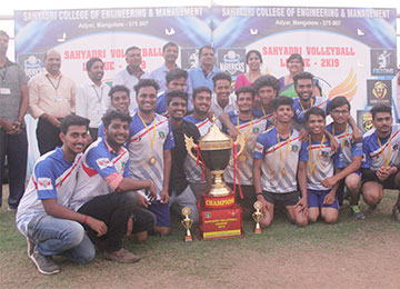 G-Crew of MBA, organizes the 2nd series of Sahyadri Volleyball League (SVL) in the campus
