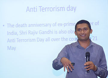 "Sahyadri organizes a talk on ""Combating Terrorism - Role of Youth"" in commemoration of World Anti-Terrorism Day"
