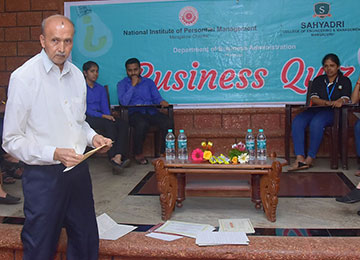 'Business Quiz' jointly organized by NIPM & Sahyadri held in the Campus