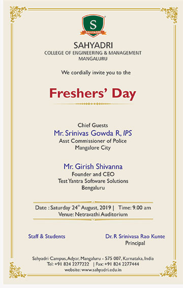Fresher's day for 2019-20 batch