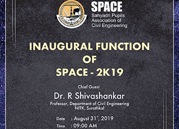 Inauguration function of SPACE 2019