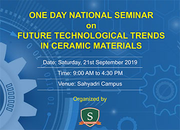 "One-Day National Seminar on ""Future Technological Trends in Ceramic Materials"""