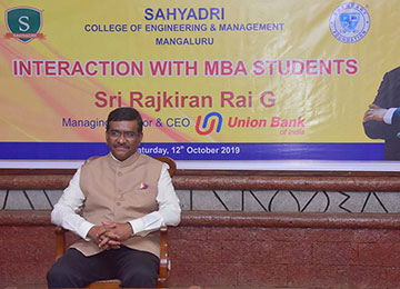 'Passion, Humility & Continuous Learning - Key Competencies that made me a CEO' says The Managing Director & CEO of Union Bank of India while addressing the Sahyadri MBA Students