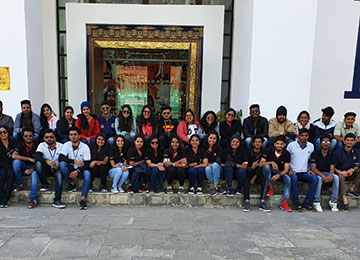 A 33-Member MBA Team at Bhutan for Industry-Academia Connect
