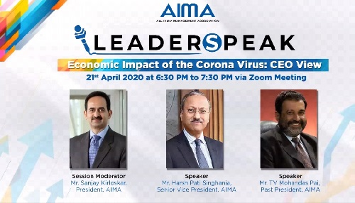 "MBA Faculty attend Webinar – ""LeaderSpeak Series - Economic Impact of the Corona Virus: CEO View"""