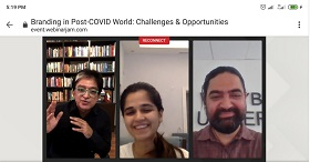 "MBA Faculty Members attend a Webinar on ""Branding in Post-COVID World: Challenges & Opportunities"""