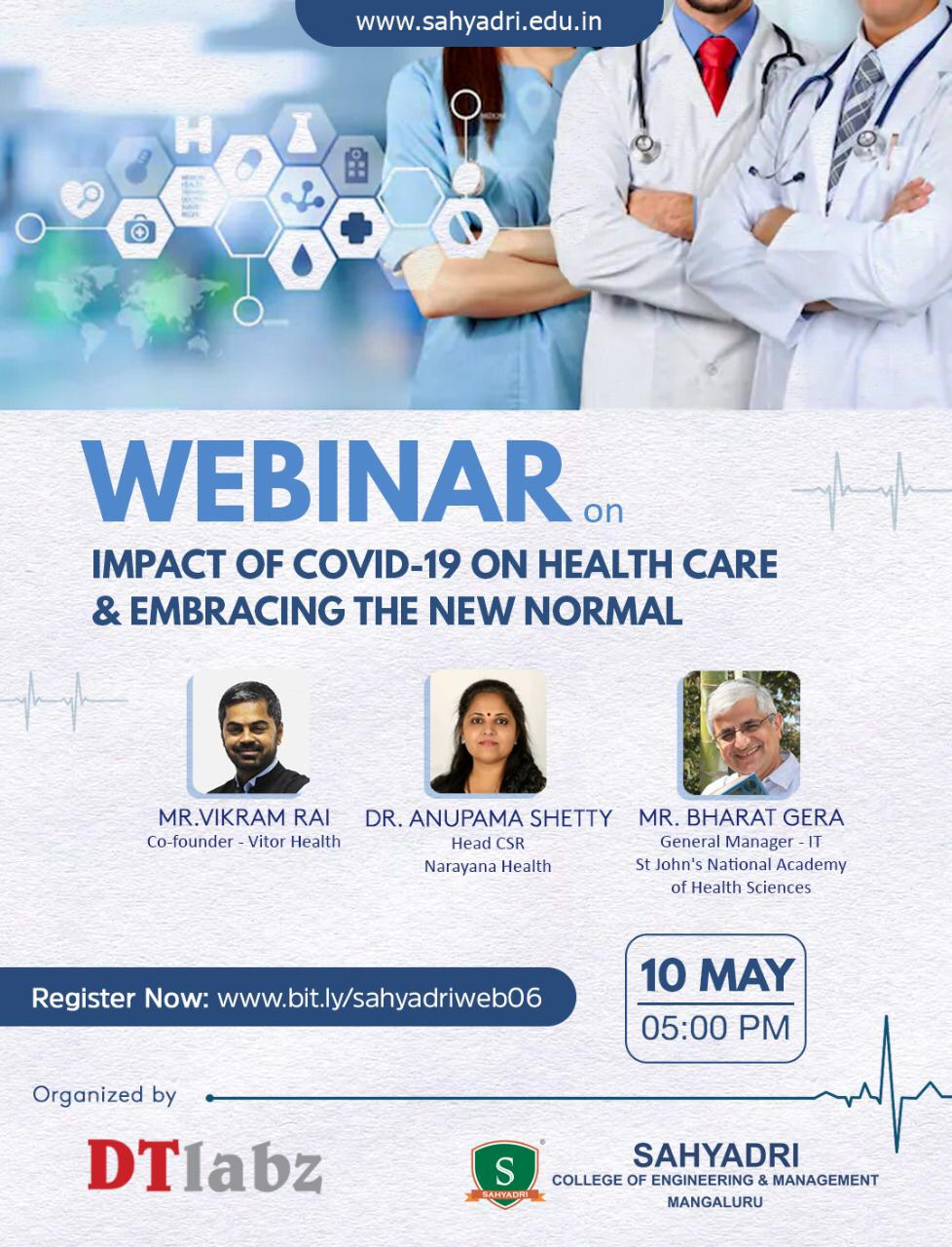 Webinar on IMPACT OF COVID-19 ON HEALTH CARE & EMBRACING THE NEW NORMAL