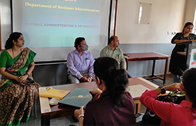 "Certificate Course on ""Payroll Administration & HR Analytics"" introduced for MBA-HR Students"